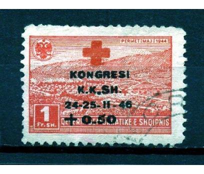 ARNAVUTLUK DAMGALI 1946 KIZILHAÇ KONG.1.VAL.(K007)