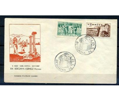 CUMH.FDC 1957 BERGAMA KERMESİ 26.5. İST.F.K.(K005)