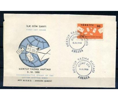 CUMH.FDC 1958 MEKTUP YAZMA HAFTASI SÜPER (K005)