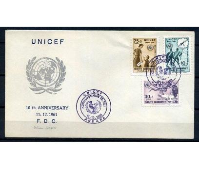CUMH.FDC 1961  UNICEF'İN 15.YILI SÜPER (K013)