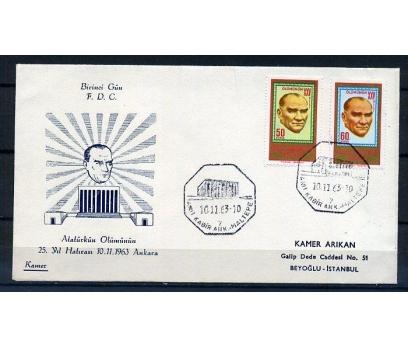 CUMH.FDC 1963 ATATÜRK'ÜN 25.ÖLÜM YILI KAMER (K013)