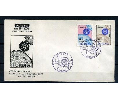 CUMH.FDC 1967 EUROPA CEPT AKOBA SÜPER (K013)