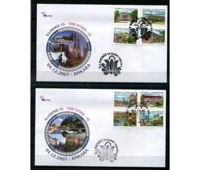 CUMH.FDC 2007 İLLERİMİZ (15-16) SÜPER (K013)