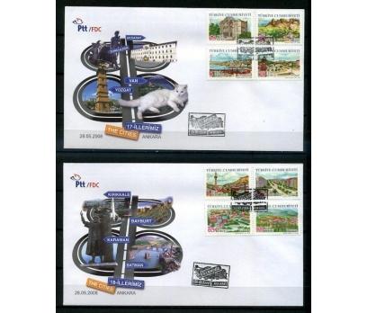 CUMH.FDC 2008 İLLERİMİZ (17-18) SÜPER (K013)