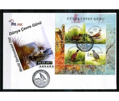 CUMH.FDC 2011 D.ÇEVRE GÜNÜ & KUŞLAR SÜPER (K014)