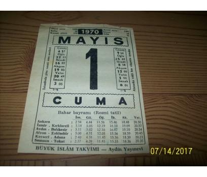 1 Mayıs  1970 Cuma - Takvim Yaprağı