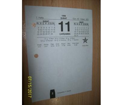 11 Şubat 1993  Çarşamba - Takvim Yaprağı