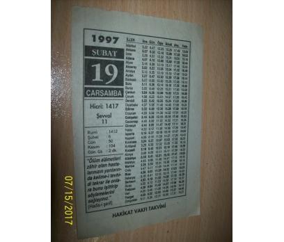 19 Şubat 1997  Çarşamba - Takvim Yaprağı