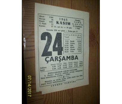24 Kasım 1965 Çarşamba - Takvim Yaprağı