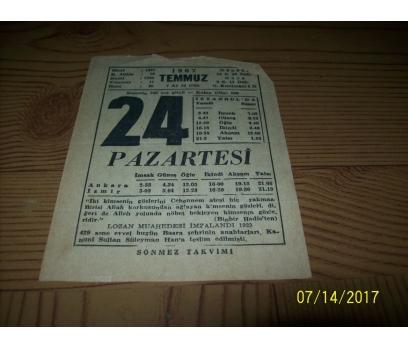 24 Temmuz 1967  Pazartesi  - Takvim Yaprağı