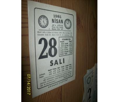 28 Nisan 1981 Salı - Takvim Yaprağı
