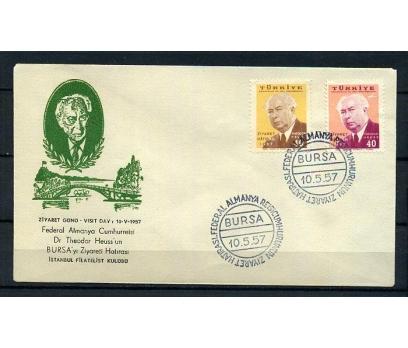 CUMH.FDC 1957 ALMAN C.BAŞKANI'NIN BURSA Z. (K005)