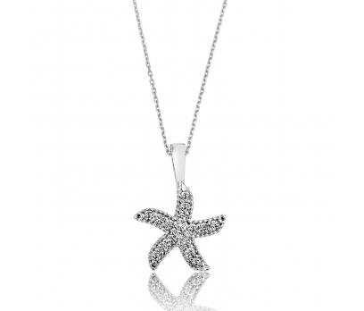 Gümüş Deniz Yıldızı Kolye
