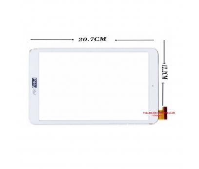 MGLCTP-80576-B Dokunmatik Tablet Camı Beyaz Dokunmatik Touch