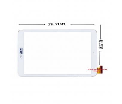 PolyPad Q8 Turbo Dokunmatik Tablet Camı Beyaz Ön Cam