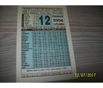 12 Temmuz 2006  Çarşamba - Takvim Yaprağı 1