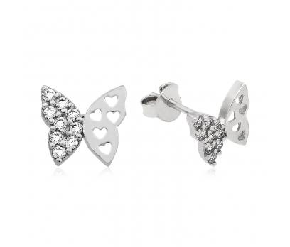 Gümüş Kelebek Küpe