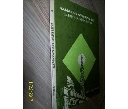 RAMAZAN AYI DERSLERİ