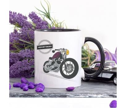 Kişiye Özel Motorsiklet Tasarımlı Lacivert Kupa Bardak - tk3466