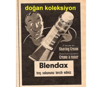 D&K--ESKİ BLENDAX TRAŞ SABUNU REKLAMI.