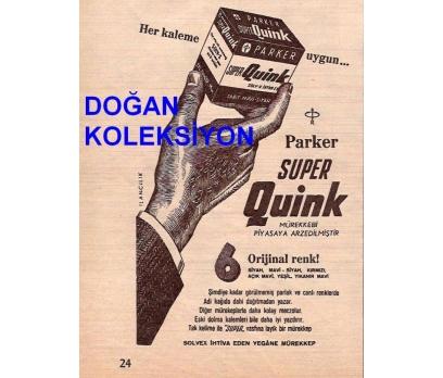 D&K--ESKİ PARKER MÜREKKEP REKLAMI.