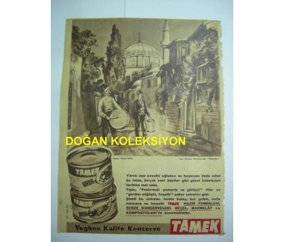 D&K-ESKİ TAMEK KONSERVE REKLAMI.