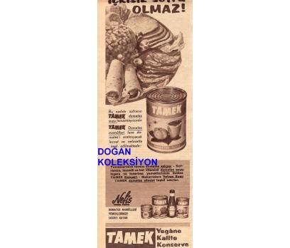 D&K--ESKİ TAMEK KONSERVE REKLAMI.