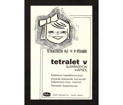 D&K--TETRALET-V  İLAÇ REKLAMI.