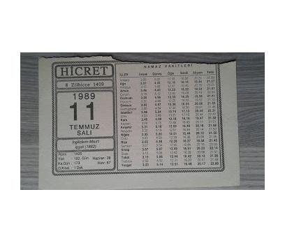 11 TEMMUZ 1989 SALI