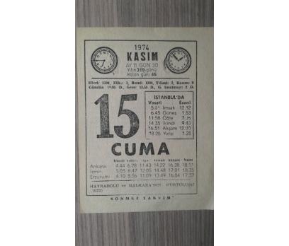 15 KASIM 1974 CUMA