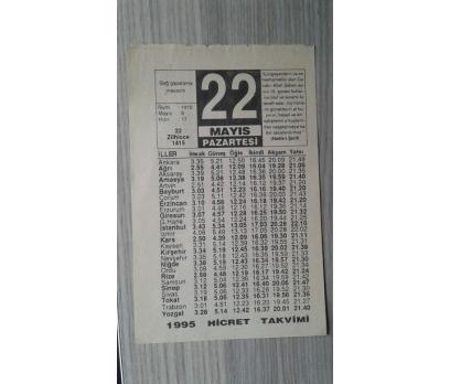 22 MAYIS 1995 PAZARTESİ