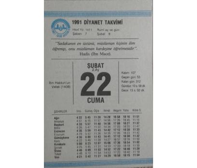 22 ŞUBAT 1991 CUMA
