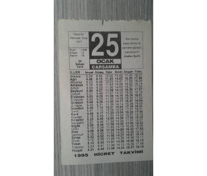 25 OCAK 1995 ÇARŞAMBA