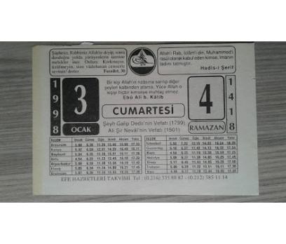 3 OCAK 1998 CUMARTESİ