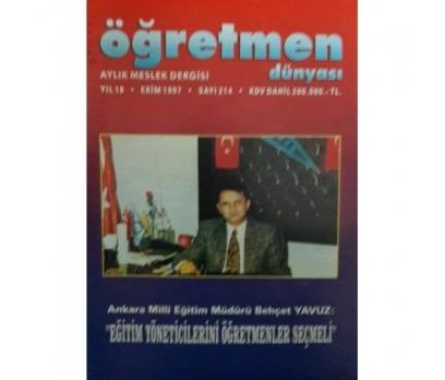 ÖĞRETMEN DÜNYASI aylık meslek dergisi EKİM 1997