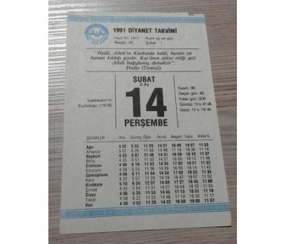 14 ŞUBAT 1991 PERŞEMBE TAKVİM YAPRAĞI