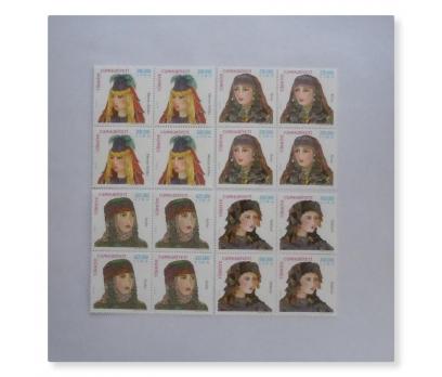 2001 Türk Kadın Başlıkları dörtlü blok  (MNH)
