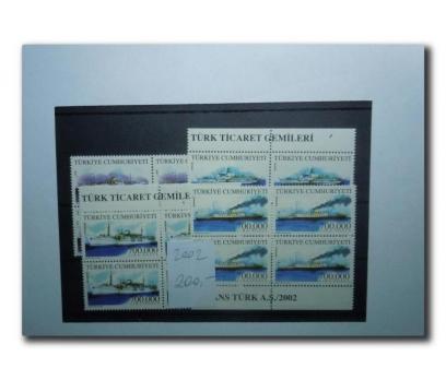 2002 Türk Ticaret Gemileri dörtlü blok  (MNH)