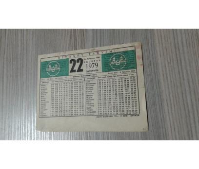 22 AĞUSTOS 1979 ÇARŞAMBA TAKVİM YAPRAĞI