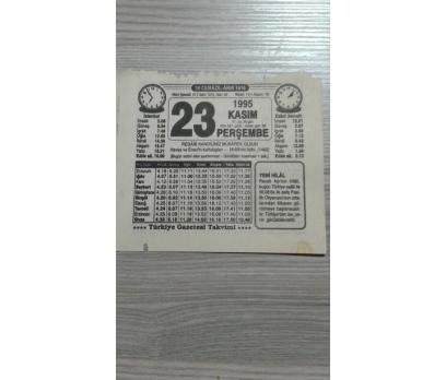 23 Kasım 1995 Perşembe Takvim Yaprağı