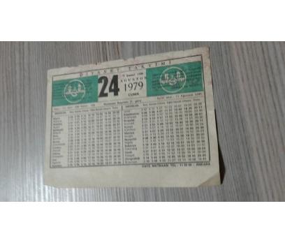 24 AĞUSTOS 1979 CUMA TAKVİM YAPRAĞI