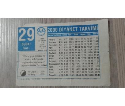 29 ŞUBAT 2000 SALI TAKVİM YAPRAĞI