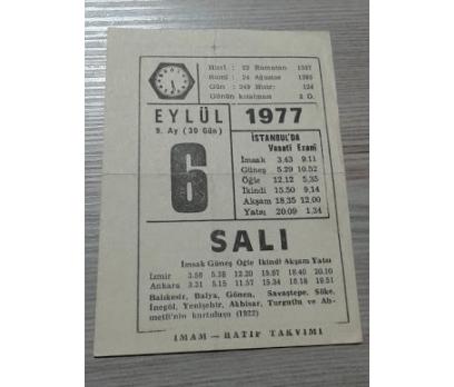 6 EYLÜL 1977 SALI TAKVİM YAPRAĞI