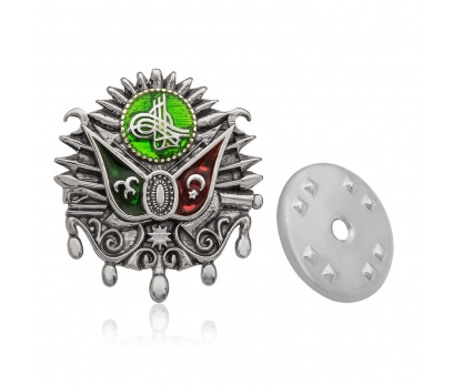 Gümüş Osmanlı Arması Rozet