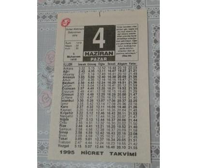 4 Haziran 1995 Pazar Takvim Yaprağı