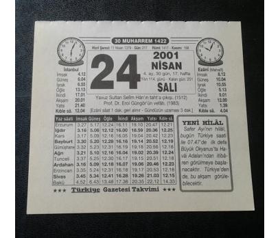 24 NİSAN 2001 SALI TAKVİM YAPRAĞI
