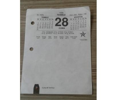 28 KASIM 1997 CUMA TAKVİM YAPRAĞI