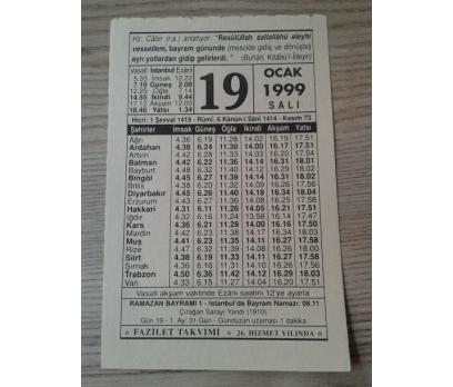 19 0CAK 1999 SALI TAKVİM YAPRAĞI