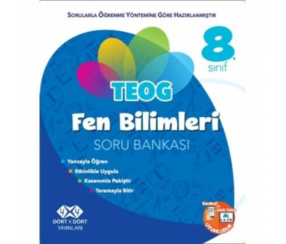 4 X 4 YAYINLARI TEOG 8.SINIF FEN BİLİMLERİ SORU B.