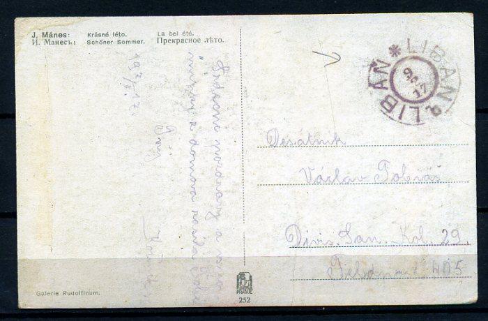 ROMANTİK KARTP. 1917 LÜBNAN DAMGALISÜPER (18-22) 2